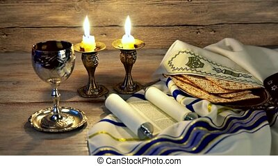 jewish holiday celebration shabbat eve table - Shabbat eve...