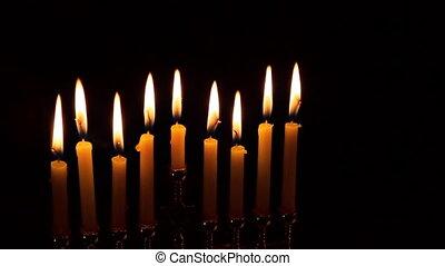 Jewish holiday hannukah low key image of jewish holiday...
