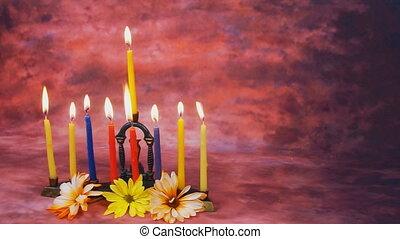 Lighting Hanukkah Candles Hanukkah celebration - Jewish...