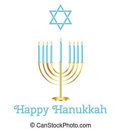 Jewish Holiday. Happy Hanukkah card design. Vector illustration