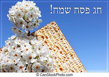jewish holiday of Passover and matzo - jewish holiday of...