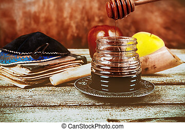 Rosh hashanah jewish New Year holiday concept.