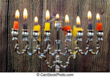 Jewish holiday Star of David Hanukkah menorah