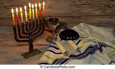 Jewish holiday symbol Hanukkah, the Jewish Festival of...