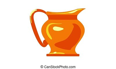 Jewish jug icon animation best object on white background