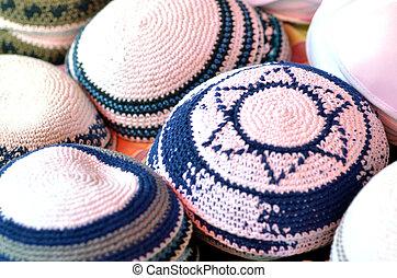 Jewish Kippah with Star of David symbol