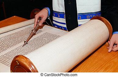 Jewish man dressed in ritual clothing family man mitzvah...