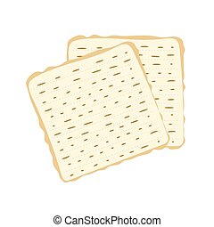 Jewish matzah bread vector illustration. Traditional matzoh ...