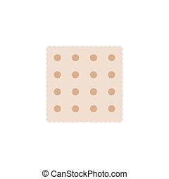 Jewish Matzah or matzo vector icon symbol isolated on white ...