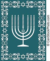 Jewish menorah ,holiday vector - Jewish menorah design ,...