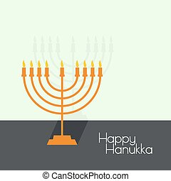 Jewish Menorah icon. - Jewish Menorah with candles. Vector...