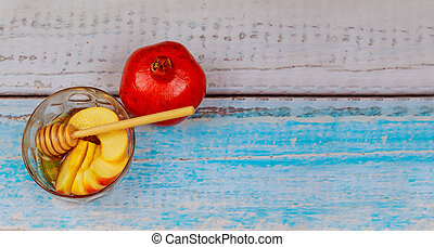 Jewish New Year - Rosh Hashanah - Apple and Honey.