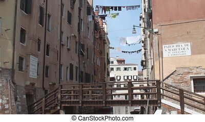 Jewish quarter in Venice - Bridge leading to the new Jewish...