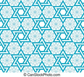 Jewish, Star of David blue pattern