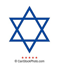 Jewish star of David icon . Different color .