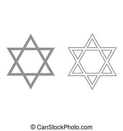 Jewish star of David it is icon .