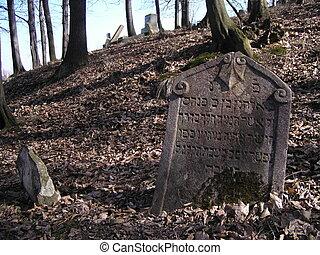 Jewish tombstone from jewish cemetery