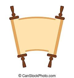 Jewish torah icon - Isolated jewish torah icon. Vector...