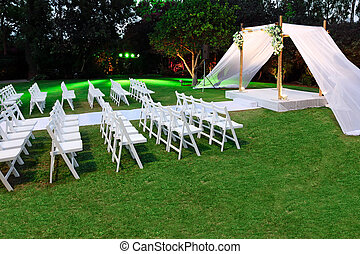 Jewish traditions wedding ceremony. Wedding canopy (chuppah or huppah).
