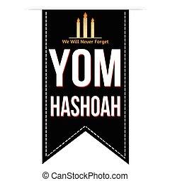 Jewish Yom HaShoah banner design