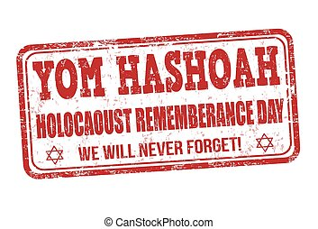 Jewish Yom HaShoah Remembrance Day stamp