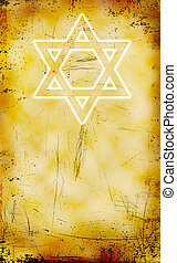 Jewish Yom Kippur grunge background with David star