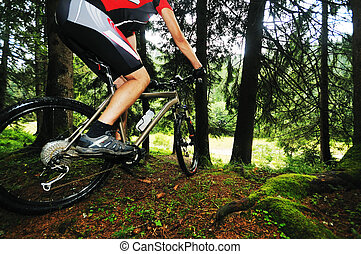 jezdit na kole, hora, ve volné přírodě, voják