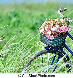 jezdit na kole, květ