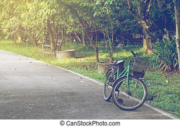 jezdit na kole, od park