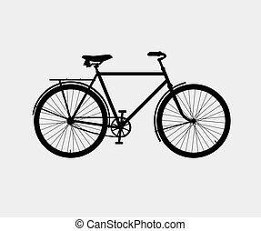 jezdit na kole, silueta, klasik