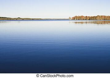 jezero, automn