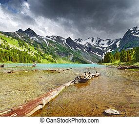 jezero, hora