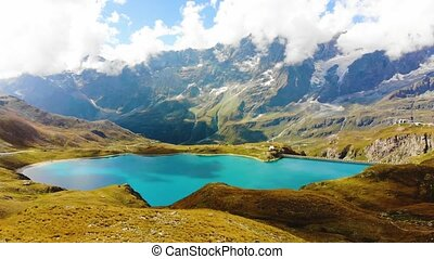 jezioro, góra, matterhorn, piękny