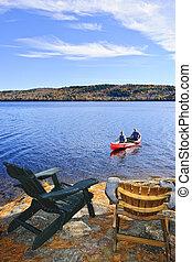jezioro, kajakarstwo