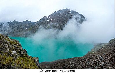 jezioro, kul, kyrgyzstan, ala