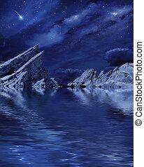 jezioro, planetscape