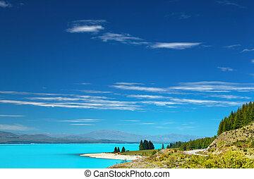 jezioro pukaki, nowy zealand