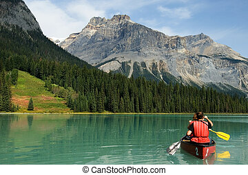 jezioro, szmaragd