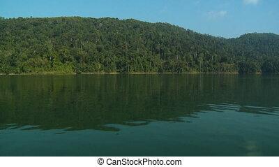 jezioro, temenggor, odbicia, las, kl, gerik