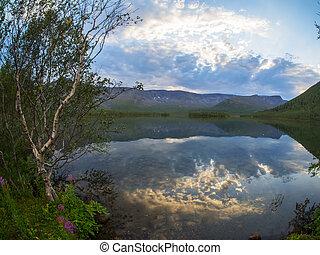 jezioro, w górach