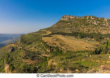 jezzine, paysages, skyle, cityscape, sud, liban