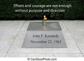 jfk, citação, ligado, coragem