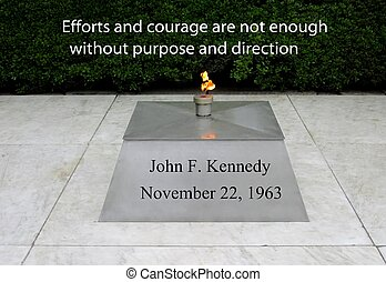 JFK quote on courage - President John F Kennedy on courage