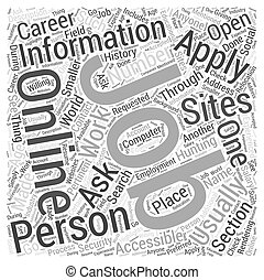 JH job hunting online Word Cloud Concept