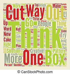 JH learn to think outside the box text background wordcloud concept