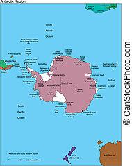 jižní pól, antarctica, jména