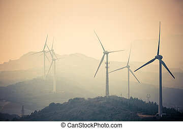 jiangxi new energy - wind farm at dusk - new energy in ...