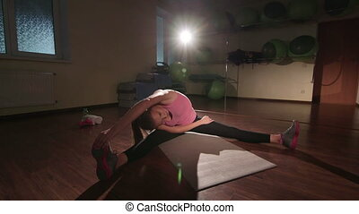 JIB CRANE: Stretching routine for flexibility at the end of...
