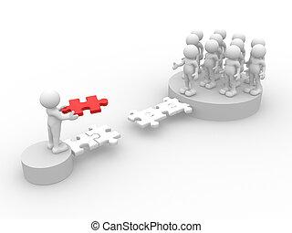 Jigsaw - 3d people - human character - person. Last jigsaw ...
