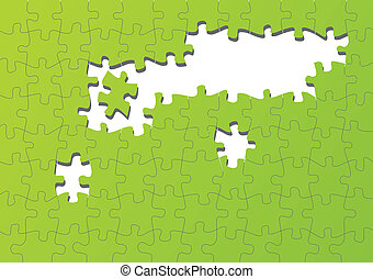 jigsaw confondono, vettore, colorito, fondo